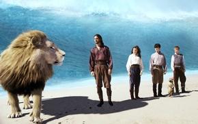 Картинка волна, Лев, герои, Хроники Нарнии, chronicles of Narnia, Аслан