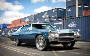 Картинка Chevrolet, wheels, Impala, 1972, hrom