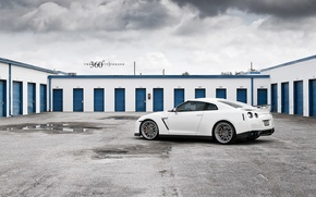 Картинка white, 360forged, R35, Nissan GT-R