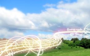 Обои небо, поле, энергия