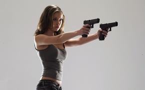 Обои пистолеты, саммер глау, summer glau