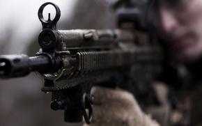 Картинка оружие, война, солдат, автомат