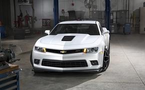Картинка Chevrolet, Camaro, white, auto wallpapers, Z/28