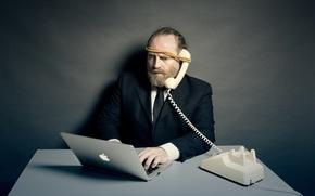 Картинка человек, ситуация, телефон