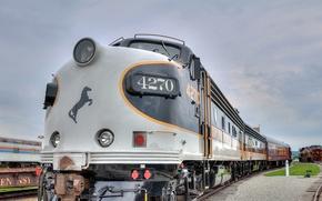 Картинка дорога, поезд, тепловоз
