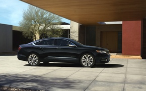 Обои chevrolet, impala, вид сбоку, черный, авто