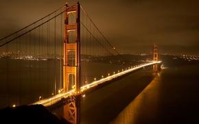 Обои свет, ночь, Мост