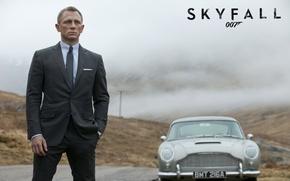 Обои Бонд, Aston Martin, Астон Мартин, 007: Координаты «Скайфолл», DB5, James Bond, Skyfall, Daniel Craig, 007, ...