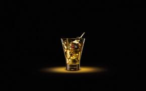 Картинка стакан, мартини, соломинка