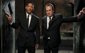 Обои Томми Ли Джонс, Agent K, Men in Black III, Agent J, Уилл Смит, Люди в ...