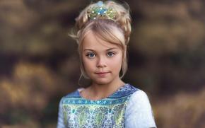 Картинка портрет, девочка, причёска, Beautiful Blue