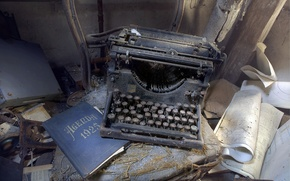 Картинка Lost, Abandoned, Typewriter