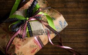 Картинка бумага, ленты, праздник, подарок, коробки, банты, свертки, оберточная
