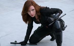 Обои Black Widow, Первый мститель: Противостояние, костюм, Скарлетт Йоханссон, Captain America: Civil War, Natasha Romanoff, Scarlett ...
