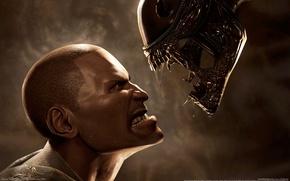 Картинка alien, aliens vs predator, пехотинец, чужой против хищника