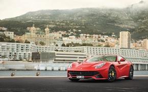 Обои F12, red, Ferrari, berlinetta