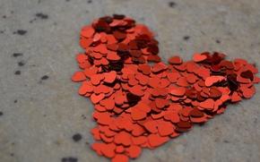 Обои макро, сердце, hearts, любовь, день влюбленных, valentine's day, настроение, love