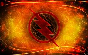Картинка logo, lightning, comics, Reverse Flash