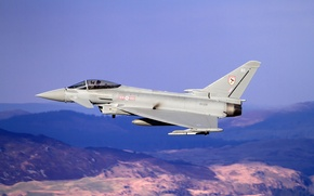 Картинка истребитель, пилот, полёт, многоцелевой, Eurofighter Typhoon