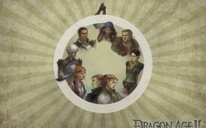 Картинка Dragon Age 2, bioware, elf, Fenris, Sebastian Vael, Aveline Vallen, Merrill, Isabela, Varric Tethras, Anders