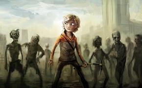 Картинка игра, зомби, game, zombies, ходячие мертвецы, the walking dead, Молли, molly