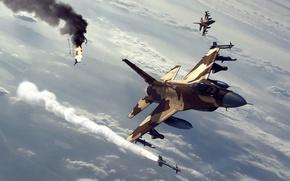 Картинка небо, ракета, Fox2
