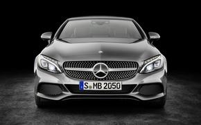 Обои Mercedes-Benz, кабриолет, черный фон, мерседес, AMG, амг, Cabriolet, C-Class, A205