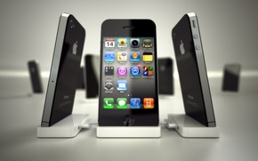 Картинка apple, телефон, иконки, айфон, эппл, мобильник, iphone4, айфон 4