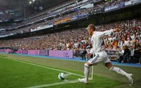 Картинка Спорт, Футбол, David Beckham, Дэвид Бекхэм, Football, Реал Мадрид, Real Madrid, Sport, Легенда