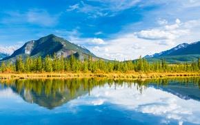 Обои minnewanka lake,  banff national park, альберта, канада