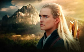 Обои Orlando Bloom, властелин колец, арт, lord of the rings, леголас, The Hobbit: The Desolation of ...