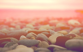 Обои камни, макро, горизонт, светлый фон, stones