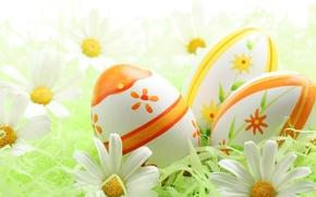 Картинка краски, яйца, пасха, религия, цветки