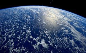 Картинка космос, океан, земля
