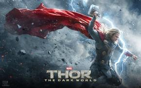 Картинка Герой, Молот, Бог, Крис Хемсворт, Chris Hemsworth, Викинг, Тор Царство Тьмы, Thor The Dark World, …
