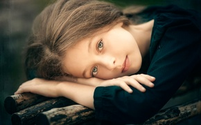 Картинка взгляд, девочка, прелесть, Looking from childhood