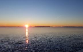 Картинка море, небо, солнце