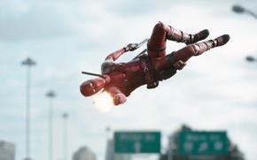 Картинка Райан Рейнольдс, Ryan Reynolds, Фильм, Deadpool, Marvel, Дэдпул, Wade Wilson, Movie, Марвел, 2016, Уэйд Уилсон
