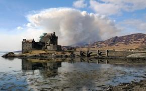 Обои scotland, dornie, замок, мост, пейзаж