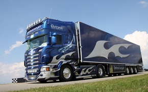 Картинка тюнинг, винил, тягач, Scania, R620