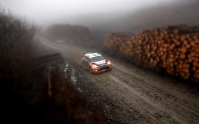 Картинка Лес, Грязь, Citroen, Фары, Tilt-Shift, DS3, WRC, Rally, Ралли, Пасмурно