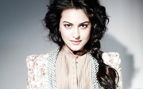 Картинка девушка, актриса, красавица, girl, eyes, beautiful, model, pretty, beauty, face, brunette, pose, cute, indian, actress, ...