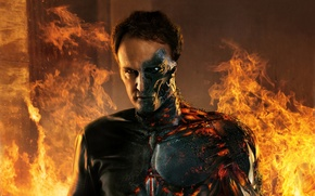 Картинка Action, Fire, Flame, Robot, Machine, Eyes, Terminator, Boy, Year, Face, Man, Movie, Paramount Pictures, Film, …