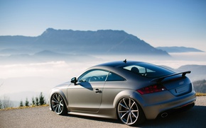 Картинка горы, туман, тюнинг, audi tt, Austria