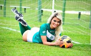 Картинка футбол, football, soccer, сексуальная спортсменка, jacqueline dos santos