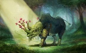 Картинка арт, willpheonix, Elemental Rhino