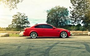 Картинка бмв, BMW, профиль, red, e92, 3 серия