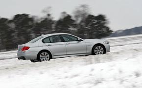 Картинка белый, BMW, седан, M550 D