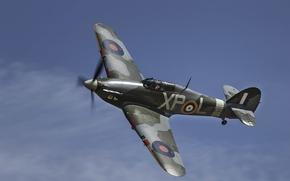 Картинка истребитель, Hawker Hurricane, перехватчик, одноместный, Mk1