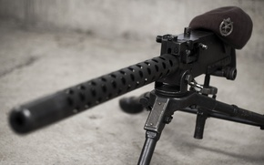Обои оружие, значок, берет, пулемёт, Браунинг, machine gun, «Браунинг», M1919